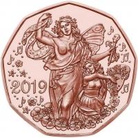 AUSTRIA 5 EURO 2019 - JOY OF LIVING