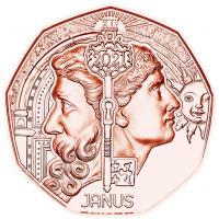 AUSTRIA 5 EURO 2021 - NEW YEAR COIN 2021 JANUS