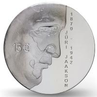 ESTONIA  2020 - 15 EURO - 150TH ANNIVERSARY OF THE BIRTH OF JURI JAAKSON