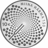 ESTONIA  2014 - 10 EURO - 150TH ANNIVERSARY OF THE BIRTH OF MIINA HÄRMA