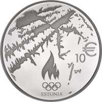 ESTONIA  2014 -10 EURO - XXII OLYMPIC WINTER GAMES - SOCHI