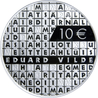 ESTONIA  2015 -10 EURO -  150TH ANNIVERSARY OF THE BURTH OF EDUARD VILDE