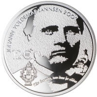 ESTONIA  2019-2 -12 EURO - 200TH ANNIVERSARY OF THE BIRTH OF JOHANN VOLDEMAR JANNSEN
