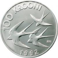 ESTONIA 1992 - 100 KROON - MONETARY REFORM