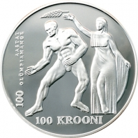 ESTONIA 1996 - 100 KROON - OLYMPIC GAMES