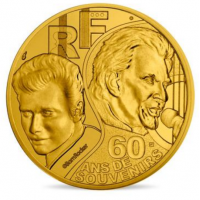 FRANCE 1/4 EURO 2020 - JOHNNY HALLYDAY 60 YEARS OF MEMORIES