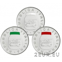 ITALY 2021 5 EURO - NUTELLA - TRIPTYCH