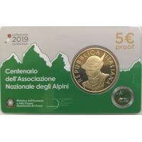 ITALY 2019 5 €  - NATIONAL ALPINE ASSOCIATION -PROOF