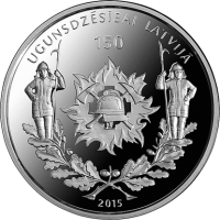 LATVIA 5 EURO 2015 - 150 YEARS OF FIREFIGHTING IN LATVIA
