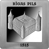 LATVIA 5 EURO 2015 - 500 YEARS OF THE RIGA CASTLE