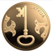LATVIA 5 EURO 2021 - Key