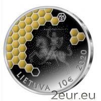 LITHUANIA 10 EURO 2020 - BEEKEEPING - SILVER