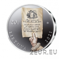 LITHUANIA 20 EURO 2021 - 230th Anniversary of the Constitution of 3 May and Mutual Pledge of the Commonwealth of the Two Nations - SILVER