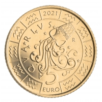 SAN MARINO 5 EURO 2021 - ZODIAC - Aquarius