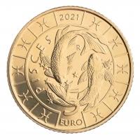 SAN MARINO 5 EURO 2021 - ZODIAC - Pisces
