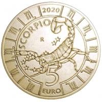 SAN MARINO 5 EURO 2020 - ZODIAC - SCORPIO