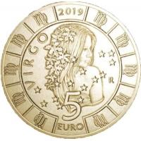 SAN MARINO 5 EURO 2019 - ZODIAC - VIRGO