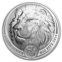 SOUTH AFRICA 2019 - LION SILVER 1 OZ (BIG FIVE COINS)