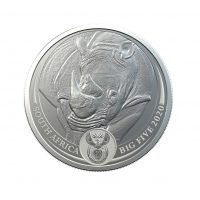SOUTH AFRICA 2020 - RHINOCEROS SILVER 1 OZ (BIG FIVE COINS)