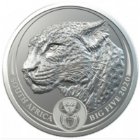 SOUTH AFRICA 2020 - LEOPARD SILVER 1 OZ (BIG FIVE COINS)