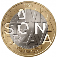 SLOVENIA 3 EURO 2020 - 30TH ANNIVERSARY OF THE PLEBISCITE ON THE INDEPENDENCE OF THE REPUBLIC OF SLOVENIA - PROOF