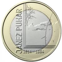 SLOVENIA 3 EURO 2014 - JANEZ PUHAR PROOF