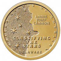 USA 1 Dollar 2019-P - Delaware - Annie Jump Cannon