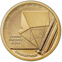 USA 1 Dollar 2020-P - Connecticut - Gerber Variable Scale