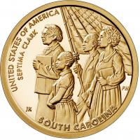USA 1 Dollar 2020-D - South Carolina - Septima Poinsett Clark