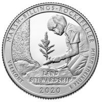 USA Quarter Dollar (25 Cents) 2020 -P - National Park - Land Stewardship