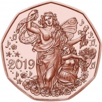 AUSTRIA 5 EURO 2019 - JOY OF LIVING