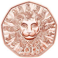 AUSTRIA 5 EURO 2018 - THE LION
