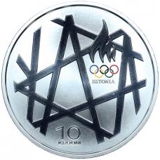 ESTONIA 10 KROONI 2008 - OLYMPIC GAMES IN BEIJING