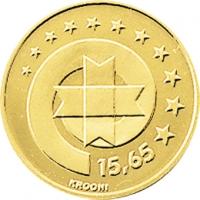 ESTONIA 1999 -15.65 KROON - 80TH ANNIVERSARY OF EESTI PANK