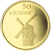 ESTONIA 2008 -50 KROON - 90TH ANNIVERSARY OF THE REPUBLIC OF ESTONIA