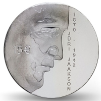 ESTONIA  2020 - 15 EURO - 150TH ANNIVERSARY OF THE BIRTH OF JURI JAAKSON