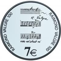 ESTONIA  2013 -7 EURO - 100TH ANNIVERSARY OF THE BIRTH OF RAIMOND VALGRE