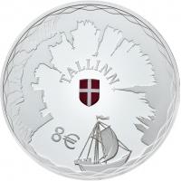 ESTONIA  2017 - 8 EURO - HANSEATIC TALLINN
