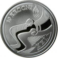 ESTONIA 10 KROONI 2010 - OLYMPIC WINTER GAMES IN VANCOUVER