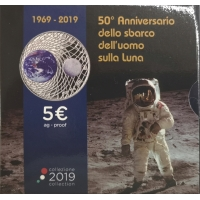 ITALY 2019 5 € - MOON LANDING -PROOF