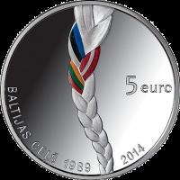 LATVIA 5 EURO 2014 - BALTIC WAY