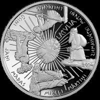 LATVIA 5 EURO 2014 - COIN OF THE SEASONS