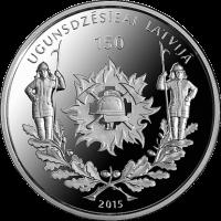 LATVIA 5 EURO 2015 - 150 YEARS OF FIREFIGHTING IN LATVIA