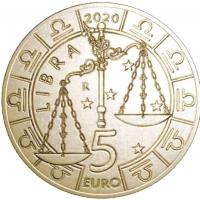 SAN MARINO 5 EURO 2020 - ZODIAC - LIBRA