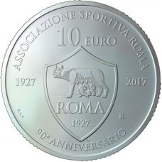 SAN MARINO 10 EURO 2017 - AS ROMA  90° ANNIVERSARIO DELLA FONDAZIONE