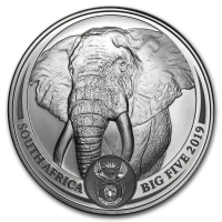 SOUTH AFRICA 2019 - ELEPHANT SILVER 1 OZ (BIG FIVE COINS)