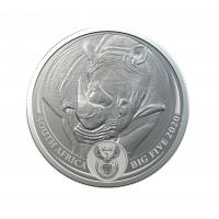 SOUTH AFRICA 2020 - RHINOCEROS SILVER 1 OZ (BIG FIVE COINS)