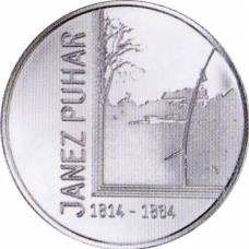 SLOVENIA 30 EURO 2014 - 200TH ANNIVERSARY OF THE BIRTH OF THE PHOTOGRAPHER JANEZ PUHAR
