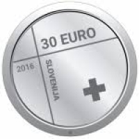 SLOVENIA 30 EURO 2016 - 150TH ANNIVERSARY OF THE RED CROSS IN SLOVENIA - SILVER COIN