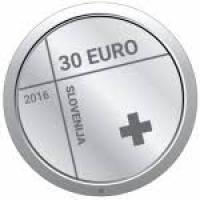 SLOVENIA 30 EURO 2016 - 150TH ANNIVERSARY OF THE RED CROSS IN SLOVENIA - SILVER COIN